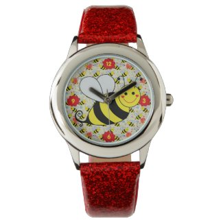 Cute Bumble Bee with Pattern Watch