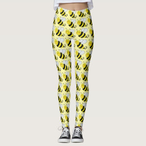 Cute Bumble Bees Leggings