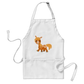 Cute Cartoon Appaloosa Pony Apron apron
