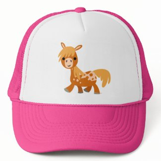 Cute Cartoon Appaloosa Pony trucker hat hat