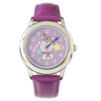 Cute Cartoon Baby Unicorn and Rainbow Watch