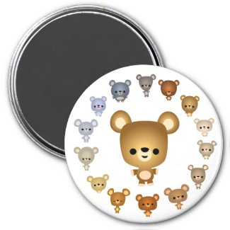 Cute Cartoon Bear Babies Magnet magnet