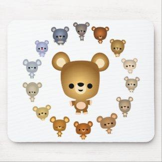 Cute Cartoon Bear Babies Mousepad mousepad
