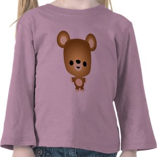 Cute Cartoon Bear Cub Children T-Shirt shirt