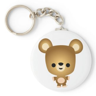 Cute Cartoon Bear Cub Keychain keychain