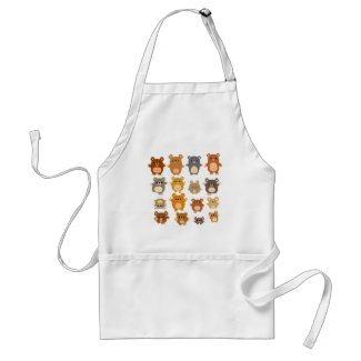 Cute Cartoon Bears apron apron