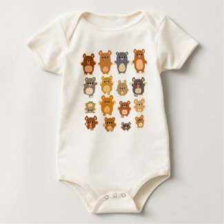 Cute Cartoon Bears Baby creeper shirt