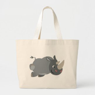 Cute Cartoon Charging Rhino Bag bag