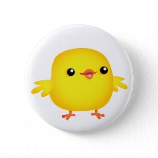 Cute Cartoon Chick :) button badge button