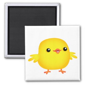 Cute Cartoon Chick :) magnet magnet