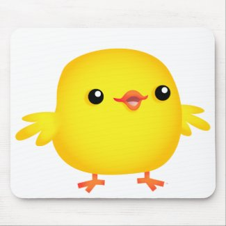 Cute Cartoon Chick :) mousepad mousepad