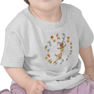 Cute Cartoon Goat Mandala Baby T-Shirt shirt