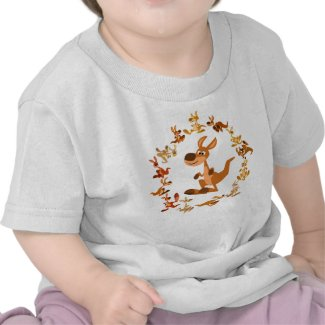 Cute Cartoon Kangaroos Mandala Baby T-Shirt shirt