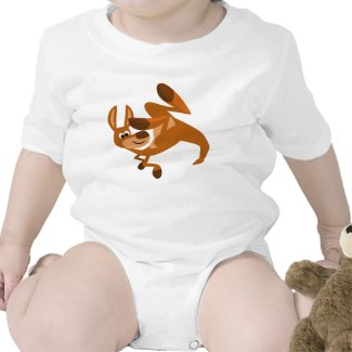 Cute Cartoon Kangaroo's Somersault Baby Onesie shirt