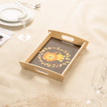 Cute Cartoon Lion Mandala Serving Tray