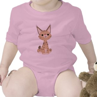 Cute Cartoon Lynx Baby T-Shirt shirt