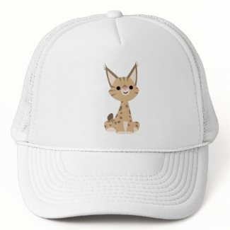 Cute Cartoon Lynx Hat hat