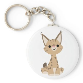 Cute Cartoon Lynx Keychain keychain