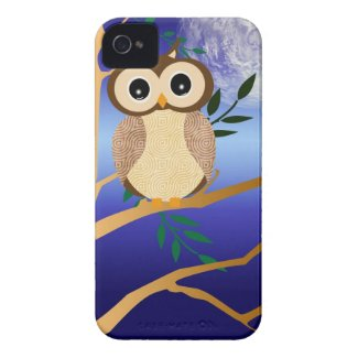 Cute cartoon midnight owl casematecase