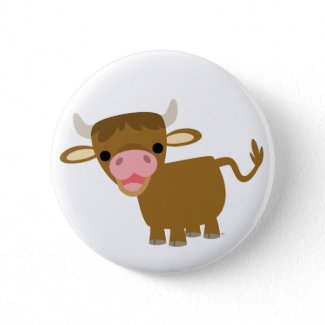 Cute Cartoon Ox button badge button