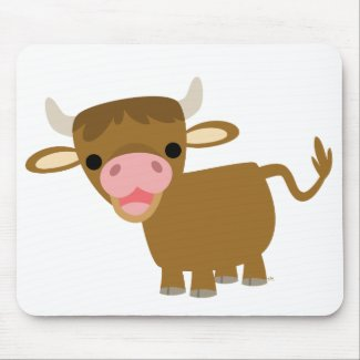 Cute Cartoon Ox mousepad mousepad