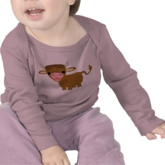 Cute Cartoon Ox T-shirt shirt