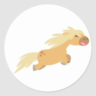 Cute Cartoon Palomino Pony sticker sticker