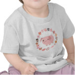 Cute Cartoon Pig Mandala Baby T-shirt front