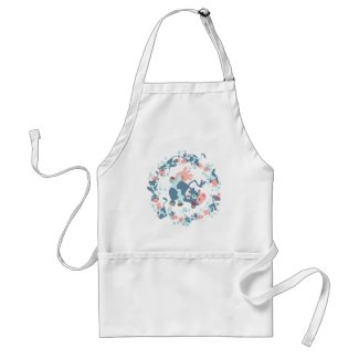 Cute Cartoon Sea Cows cooking apron apron