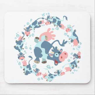 Cute Cartoon Sea Cows mousemat mousepad