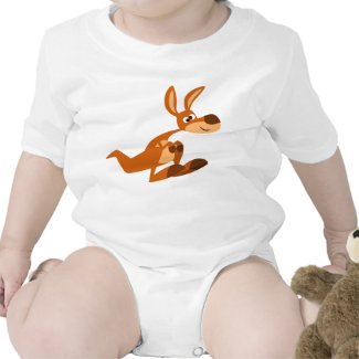Cute Cartoon Silly Kangaroo Baby Onesie shirt