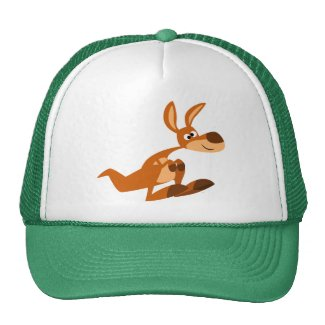 Cute Cartoon Silly Kangaroo Hat hat