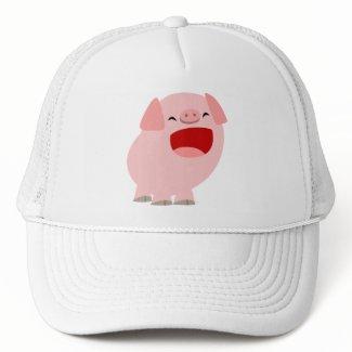 Cute Cartoon Singing Pig Hat hat