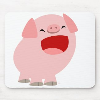 Cute Cartoon Singing Pig Mousepad mousepad