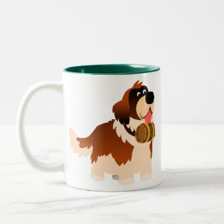 Cute Cartoon St Bernard Mug mug