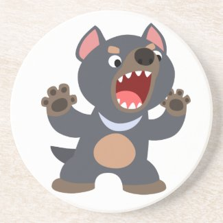 Cute Cartoon Tasmanian Devil Coaster