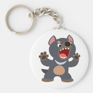 Cute Cartoon Tasmanian Devil Keychain