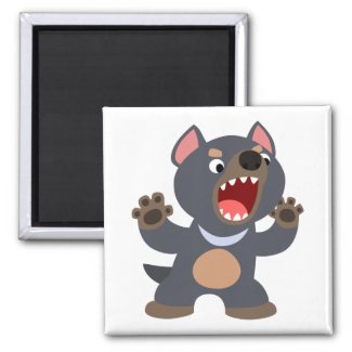 Cute Cartoon Tasmanian Devil Magnet