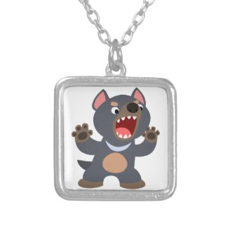 Cute Cartoon Tasmanian Devil Necklace