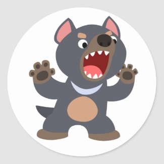 Cute Cartoon Tasmanian Devil Sticker