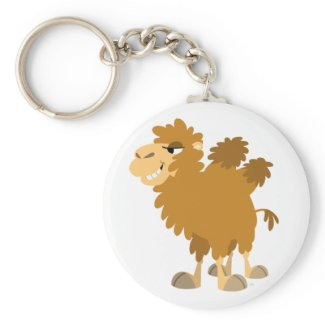 Cute Cartoon Two-Humped Camel Keychain keychain