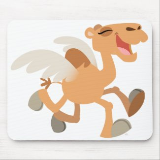 Cute Cartoon Winged-Camel Mousepad mousepad