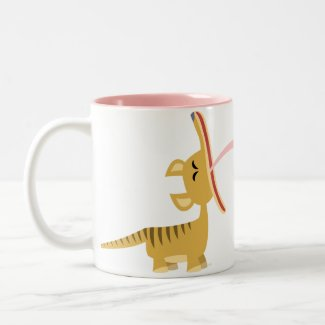 Cute Cartoon Yawning Thylacine Mug mug