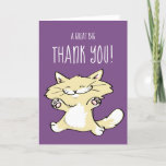 Cute Cat Greeting Cards | Thank You Note Template