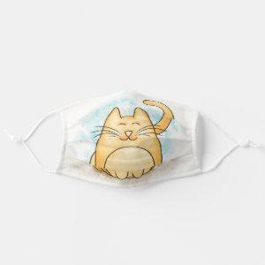 Cute Cat Watercolor Cloth Face Mask