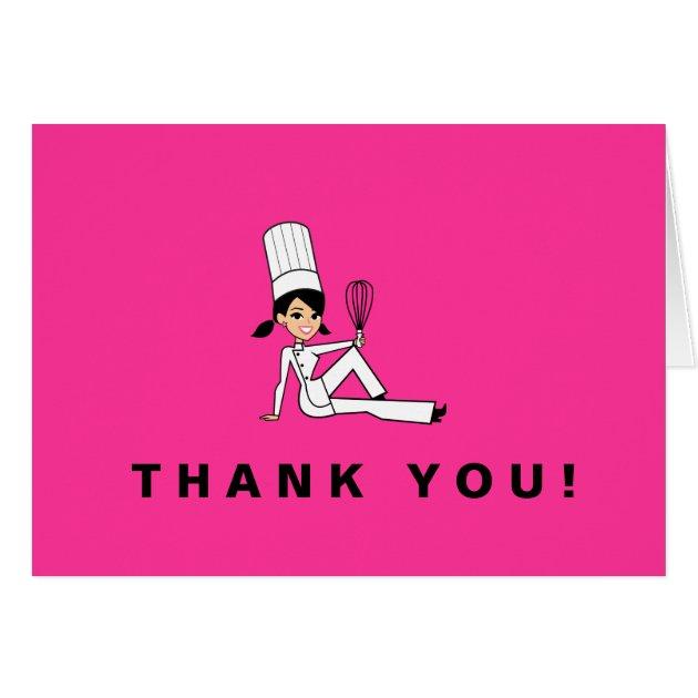 Cute Chef Thank You Card Zazzle Com