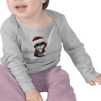Cute Christmas Kitten T-Shirt shirt