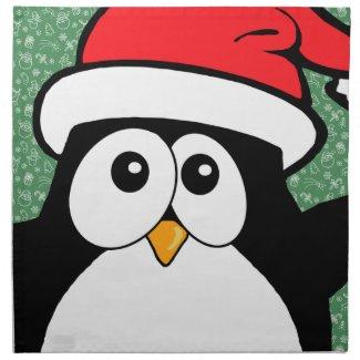 Cute Christmas Penguin Cloth Napkin