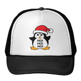 Cute Christmas Penguin Ho Ho Ho Mesh Hats