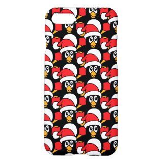 Cute Christmas Penguins Pattern Red iPhone 8/7 Case